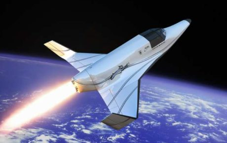 This illustration released by XCOR shows a two-seat rocket ship capable of suborbital flights to altitudes more than 37 miles above the Earth. The Lynx, about the size of a small private plane, is expected to begin flying in 2010, according to developer Xcor Aerospace, which planned to release details of the design at a press conference on Wednesday.  (AP Photo/XCOR, Mike Massee)